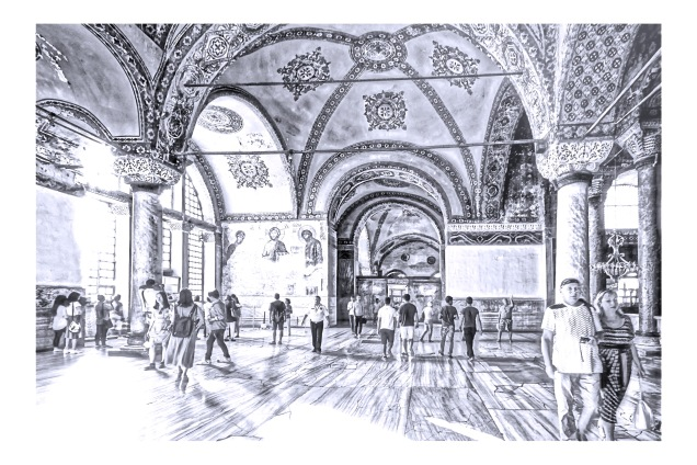 The loggia of Hagia Sophia