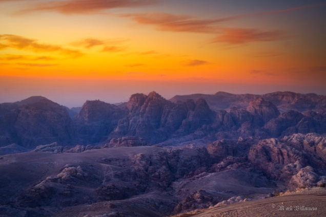 Catching the golden hour at Wadi Musa in Jordan