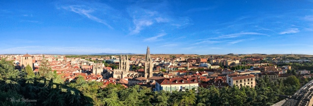 Panoramic view of Burgos, Spain